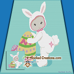 Easter Baby SC (Single Crochet) Throw Blanket Graphghan Crochet Pattern - PDF Download