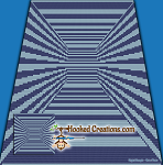 Endless Hallway Mini C2C (Modified Corner to Corner) Throw Blanket Graphghan Crochet Pattern - PDF Download