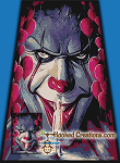 Evil Clown SC (Single Crochet) Twin Sized Blanket Graphghan Crochet Pattern - PDF Download
