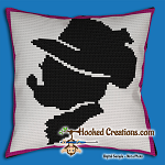 Fancy Dress Minnie SC (Single Crochet) Throw Pillow Graphghan Crochet Pattern - PDF Download