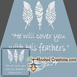 Feathers SC (Single Crochet) Throw Blanket Graphghan Crochet Pattern - PDF Download