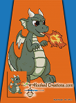 Fire Breathing Dragon SC (Single Crochet) Twin Blanket Graphghan Crochet Pattern - PDF Download
