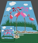 Flamingo Pond SC (Single Crochet) Queen Blanket Graphghan Crochet Pattern - PDF Download