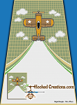 Flight Across My Blanket SC (Single Crochet) Twin Blanket Graphghan Crochet Pattern - PDF Download