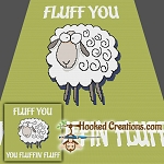 Fluff You SC (Single Crochet) Throw Blanket Graphghan Crochet Pattern - PDF Download