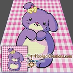 Fluffy Bunny SC (Single Crochet) Throw Blanket Graphghan Crochet Pattern - PDF Download