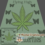 Flying High SC (Single Crochet) Throw Blanket Graphghan Crochet Pattern - PDF Download