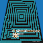 Folded C2C (Corner to Corner) Throw Blanket Graphghan Crochet Pattern - PDF Download