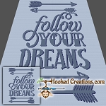 Follow Your Dreams SC (Single Crochet) Throw Blanket Graphghan Crochet Pattern - PDF Download