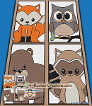 Forest Friends SC (Single Crochet) Throw Sized Blanket Graphghan Crochet Pattern - PDF Download