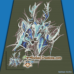 Forest Spirits SC (Single Crochet) Throw Blanket Graphghan Crochet Pattern - PDF Download