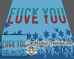 Fuck You / Love You SC (Single Crochet) Throw Blanket Graphghan Crochet Pattern - PDF Download