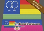 Gay Pride Flag Female C2C (Corner to Corner) Twin Sized Graphghan Crochet Pattern
