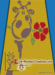 George the Giraffe C2C (Corner to Corner) Twin Blanket Graphghan Crochet Pattern - PDF Download