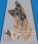 German Shepard SC (Single Crochet) Throw Blanket Graphghan Crochet Pattern - PDF Download