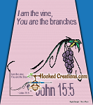 Grape Vine Verse Mini C2C (Modified Corner to Corner) Full Size Blanket Graphghan Crochet Pattern - PDF Download