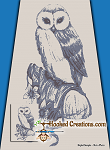 Grey Owl SC (Single Crochet) Twin Blanket Graphghan Crochet Pattern - PDF Download