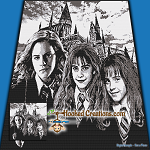 Growing Up With Hermione SC (Single Crochet) Throw Blanket Graphghan Crochet Pattern - PDF Download