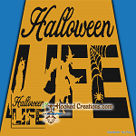 Halloween Life SC (Single Crochet) Throw Sized Blanket Graphghan Crochet Pattern - PDF Download