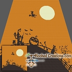 Halloween Town SC (Single Crochet) Throw Blanket Graphghan Crochet Pattern - PDF Download