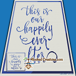 Happily Ever After SC (Single Crochet) Throw Blanket Graphghan Crochet Pattern - PDF Download