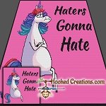Haters Gonna Hate Sc (Single Crochet) Throw Blanket Graphghan Crochet Pattern - PDF Download