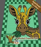 Hello Giraffe Mini C2C (Modified Corner to Corner) Full Blanket Graphghan Crochet Pattern - PDF Download