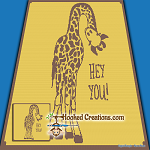 Hey You Giraffe SC (Single Crochet) Throw Size Blanket Graphghan Crochet Pattern - PDF Download