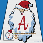 HoHoHo Alphabet-A SC (Single Crochet) Baby Blanket Graphghan Crochet Pattern - PDF Download