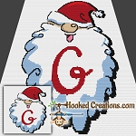 HoHoHo Alphabet-G SC (Single Crochet) Baby Blanket Graphghan Crochet Pattern