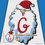 HoHoHo Alphabet-G SC (Single Crochet) Baby Blanket Graphghan Crochet Pattern - PDF Download
