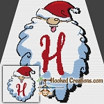 HoHoHo Alphabet-H SC (Single Crochet) Baby Blanket Graphghan Crochet Pattern - PDF Download