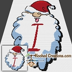 HoHoHo Alphabet-I SC (Single Crochet) Baby Blanket Graphghan Crochet Pattern - PDF Download