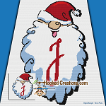 HoHoHo Alphabet-J SC (Single Crochet) Baby Blanket Graphghan Crochet Pattern - PDF Download