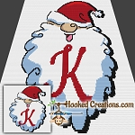 HoHoHo Alphabet-K SC (Single Crochet) Baby Blanket Graphghan Crochet Pattern - PDF Download
