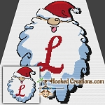 HoHoHo Alphabet-L SC (Single Crochet) Baby Blanket Graphghan Crochet Pattern