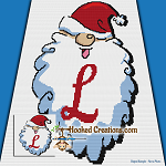 HoHoHo Alphabet-L SC (Single Crochet) Baby Blanket Graphghan Crochet Pattern - PDF Download