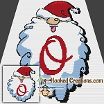 HoHoHo Alphabet-O SC (Single Crochet) Baby Blanket Graphghan Crochet Pattern