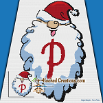 HoHoHo Alphabet-P SC (Single Crochet) Baby Blanket Graphghan Crochet Pattern - PDF Download