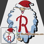 HoHoHo Alphabet-R SC (Single Crochet) Baby Blanket Graphghan Crochet Pattern