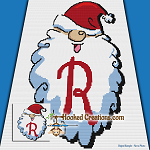 HoHoHo Alphabet-R SC (Single Crochet) Baby Blanket Graphghan Crochet Pattern - PDF Download