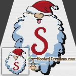 HoHoHo Alphabet-S SC (Single Crochet) Baby Blanket Graphghan Crochet Pattern
