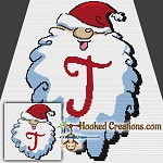 HoHoHo Alphabet-T SC (Single Crochet) Baby Blanket Graphghan Crochet Pattern