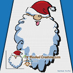 HoHoHo SC (Single Crochet) Baby Blanket Graphghan Crochet Pattern - PDF Download