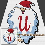HoHoHo Alphabet-U SC (Single Crochet) Baby Blanket Graphghan Crochet Pattern