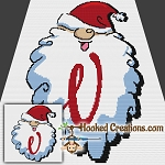 HoHoHo Alphabet-V SC (Single Crochet) Baby Blanket Graphghan Crochet Pattern - PDF Download