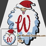 HoHoHo Alphabet-W SC (Single Crochet) Baby Blanket Graphghan Crochet Pattern