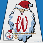 HoHoHo Alphabet-W SC (Single Crochet) Baby Blanket Graphghan Crochet Pattern - PDF Download