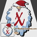 HoHoHo Alphabet-X SC (Single Crochet) Baby Blanket Graphghan Crochet Pattern