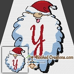 HoHoHo Alphabet-Y SC (Single Crochet) Baby Blanket Graphghan Crochet Pattern